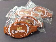 4 Corona Extra Beer Bottle Opener Keychain Football Tailgate Superbowl Favors!!