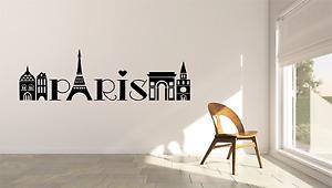 Paris Skyline Word Modern Travel Tourist Room Home Wall Decal Sticker SK11