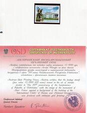 Usbekistan 2011 Unabhängigkeit Reiter Timurdenkmal 989 Goldfolie Zertifikat MNH