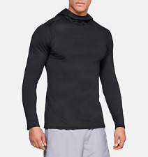 Under Armour UA Men's Coldgear Fitted Baselayer Hoodie - Black - New