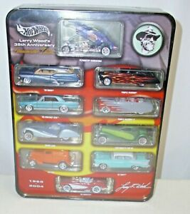 MATTEL HOT WHEELS LARRY WOODS 35TH ANNIVERSARY COLLECTION TIN NEW SEALED IN BOX