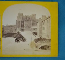 1870s Stereoview Photo Kent Dover Castle Keep From Drill Ground By GH Buckman