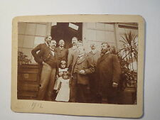 8 Men & 2 kids girls from a photo-Atelier? Camera Obscura 1912 KAB