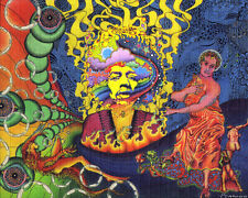 Signed Blotter Art - Jimi Hendrix Rainbow Bridge by Jeff Hopp