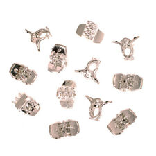 Mia Clippies®, Mini Jaw Clamps, Hair Accessory, Silver Coated Plastic 12pcs