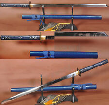 AISI 1095 STEEL CLAY TEMPERED KIRIHA ZUKUR JAPANESE NINJA SWORD Full TANG BLADE2