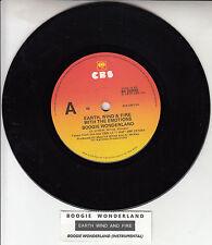 "EARTH, WIND & FIRE  Boogie Wonderland 7"" 45 rpm record + juke box title strip"