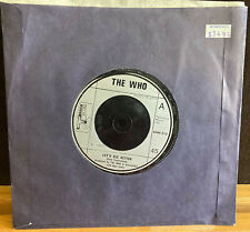 """THE WHO LET'S SEE ACTION WHEN I WAS A BOY BRITISH PRESS VINYL 45 RECORD 7"""" CLEAN"""