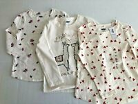 Old Navy Toddler Girls 5T Lot of 3 Long Sleeve Shirts Lama Hearts Flowers