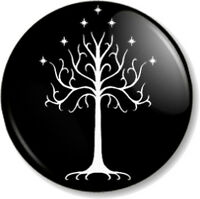 Tree Of Gondor 25mm Pin Button Badge Hobbit JRR Tolkien Lord Of The Rings Book