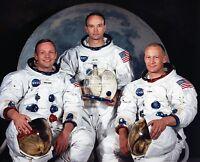 APOLLO 11 CREW PORTRAIT ARMSTRONG ALDRIN COLLINS MOON - 8X10 NASA PHOTO (EP-224)