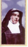 St. Edith Stein - Relic Laminated Holy Card - Blessed by Pope Francis