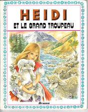 HEIDI ET LE GRAND TROUPEAU  . EDITION ORIGINALE . 1980 .   EDITIONS HEMMA . 1974