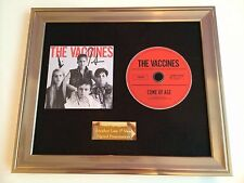 PERSONALLY SIGNED/AUTOGRAPHED THE VACCINES - COME OF AGE FRAMED CD PRESENTATION