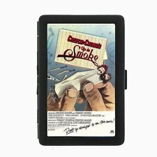 Cheech and Chong Black Cigarette Case Metal Wallet Classic Image D64