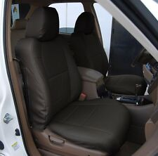 ACURA MDX 2002-2006 BLACK S.LEATHER CUSTOM MADE FIT FRONT SEAT COVER