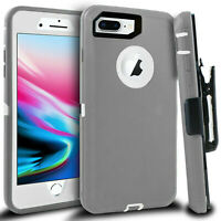 For iPhone X XR 7 8 Plus Shockproof Cover Case w/ Belt Clip & Screen Protector