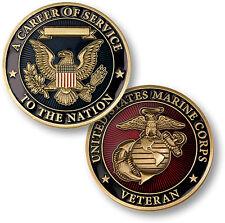 U.S. Marine Corps Veteran / Career of Service -  USMC Challenge Coin