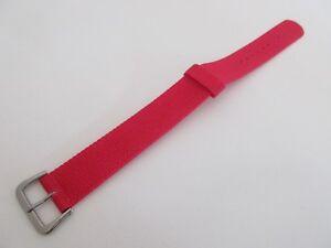 Véritable Casio Rouge Nylon one piece 20mm Bracelet de Montre Argent Boucle