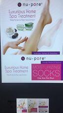 12 Pair NU-PORE Moisturizing Socks / Shea Butter and Aloe Vera / Spa Treatment