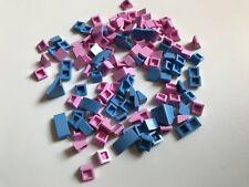 120 LEGO slope Rosa 1X1x2/3 1x2 Light Blue-Hobbit STAR WARS MARVEL Amici