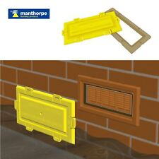 Airbrick Flood Water Defence Protection Cover with Buff Coloured Frame