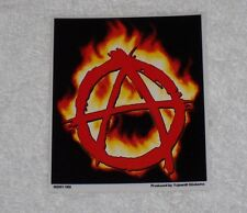 Automotive Decal Sticker Anarchy Sign in Flames Anarchy Symbol