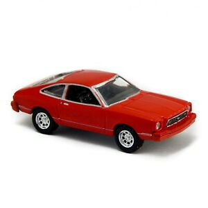 """1977 Ford Mustang 2 II Red 6119 Motor Max 1:60 1:64 3"""" inch Toy Car"""