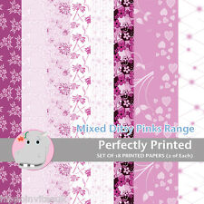 18 Patterned Paper Pack Sq 140mm - Craft Paper - Ditsy Pinks