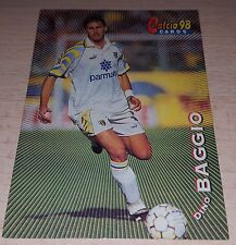 CARD CALCIATORI PANINI 98 PARMA BAGGIO CALCIO FOOTBALL SOCCER ALBUM