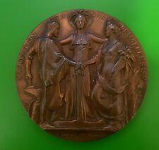 1897 BRUXELLES INTERNATIONAL EXPOSITION 70MM BRONZE MEDAL