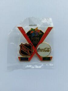 1998 Nagano Olympics COCA COLA & NHL Hockey Enameled Metal Lapel Hat Pin