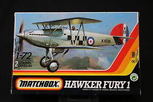 YN054 MATCHBOX 1/72 maquette avion 40001 Hawker Fury 1