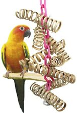 3449 Bamboo Spring Bird Toy parrot cage toys cages natural cockatiel conure pet