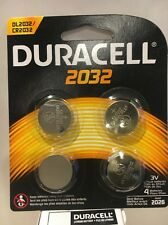 4 NEW 2032 Duracell Coin Cell Batteries - Lithium 3V - (ECR2032, FA, KECR2032-1)