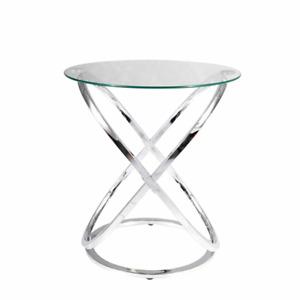 Fairmont Park Emrick Beistelltisch Tisch Couchtisch Konsolentisch Ablage Silber