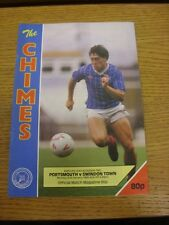 02/01/1989 Portsmouth v Swindon Town  . Thanks for viewing this item, buy in con