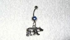 Cute Polar Bear Wild Animal Charm Belly Navel Ring Body Jewelry Piercing 14g Ice