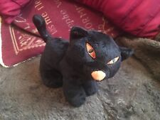 "TESCO HALLOWEEN SMALL 6"" WITCHES BLACK CAT SOFT TOY PLUSH VGCC"