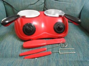 Dual Total Chef Chocolatiere Electric Chocolate Fondue Melting Pot & Candy Maker