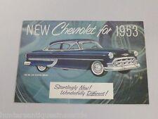 Vintage 1953 Chevrolet Foldout Brochure