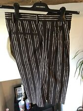 Dolce&Gabbana Mens Brown & Cream Double Pleated Tailored shorts size UK 28 EU 44