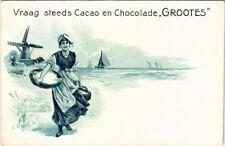 PC Werbung Cacao en Chocolade grootes, Vintage Postkarte (b9940)