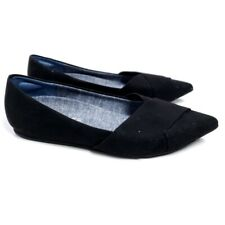 Dr. Scholl's Women's Loma Black Corduroy Pointed Flat Shoes 7.5
