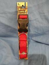 AKC Red adjustable nylon dog collar LARGE