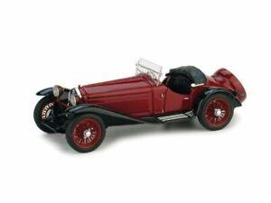 Alfa romeo 2300 1931 bicolore amaranto/nero modellino scala 1:43 brumm