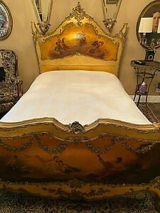 "19th Century, FRENCH VERNIS MARTIN BEDROOM SUITE, BRONZE ORMOLU.Stamped ""L"""
