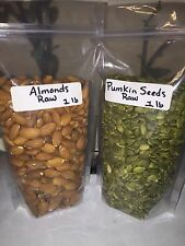 Raw Almonds (1lb) And Raw Pumpkin Seeds (1lb) Combo - Unsalted - FREE SHIPPING