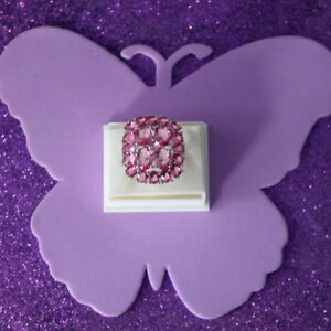 Wunderschöne rosa Turmalin gefüllt Silberring 7.7 gr. Gr. P 1 \ 2-US 7.75 in Box