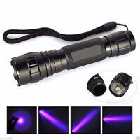 UV WF-501B LED 365NM Ultra Violet Schwarzlicht Taschenlampe 18650 FBB